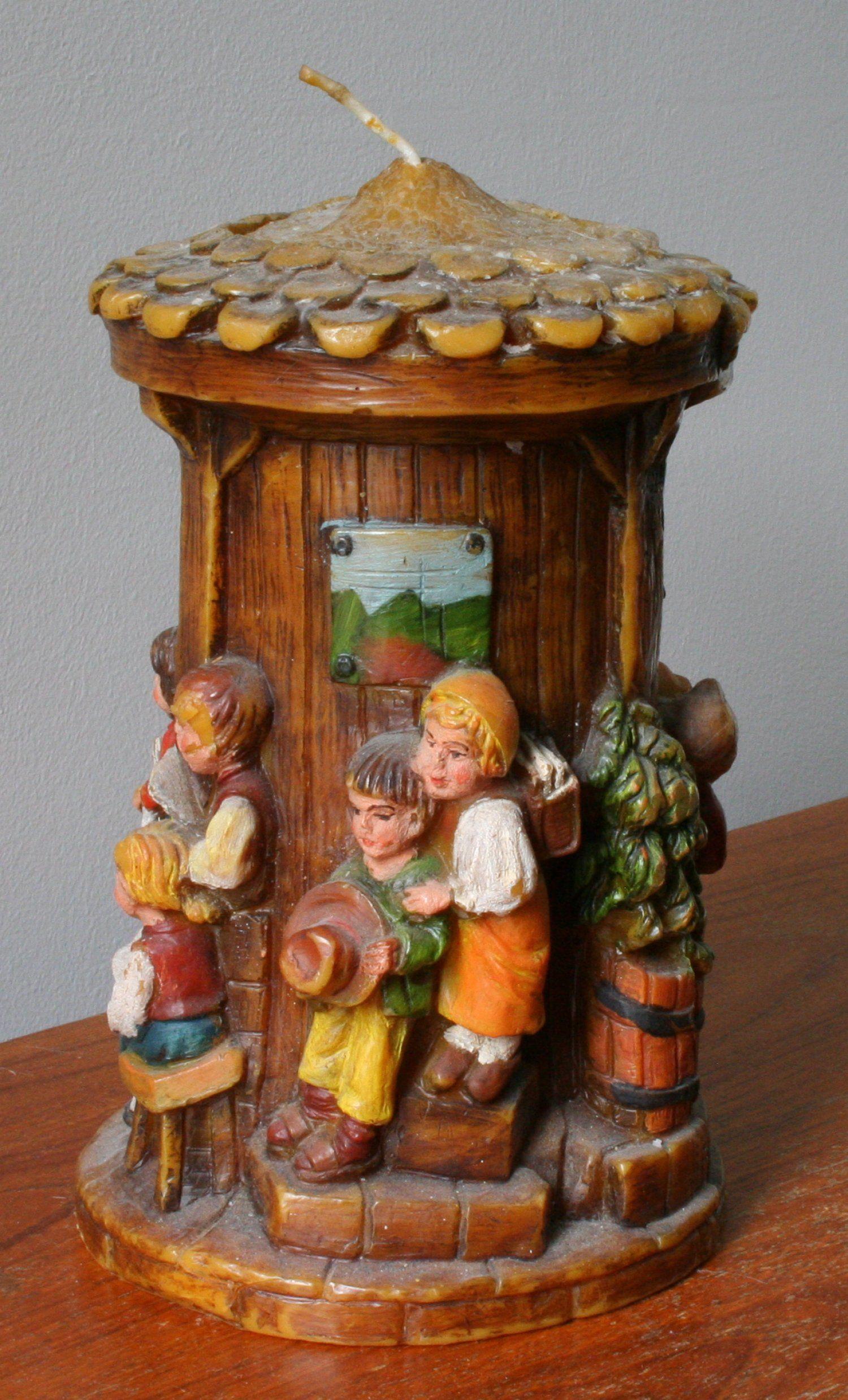 Carved easter candles Vintage German Decorative Eternal