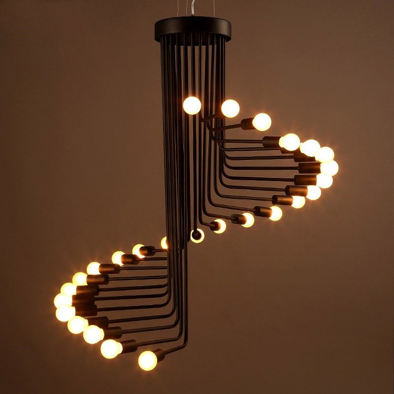 Retro Spiral Staircase Shaped Pendant Light in