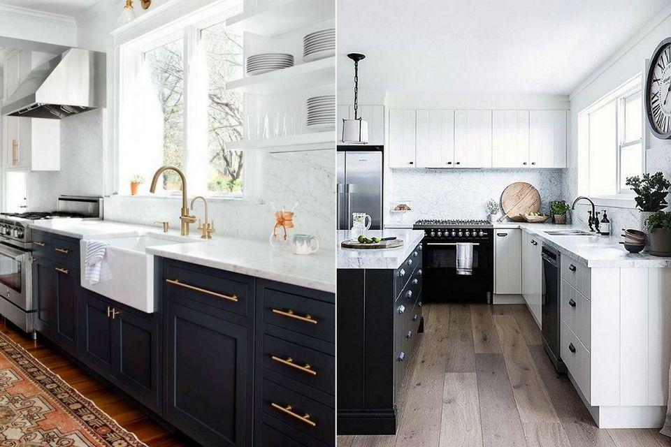 interior design trends 2017, black and white kitchens