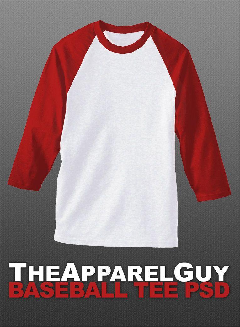 T shirt white psd - Baseball Tee Psd By Theapparelguy