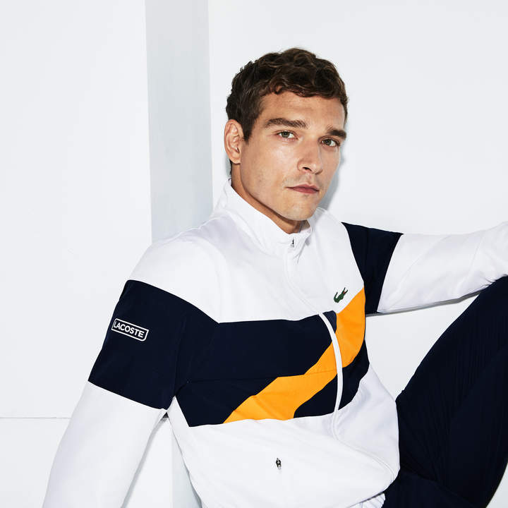 638a459bff Men's SPORT Colored Bands Taffeta Tennis Tracksuit in 2019 ...