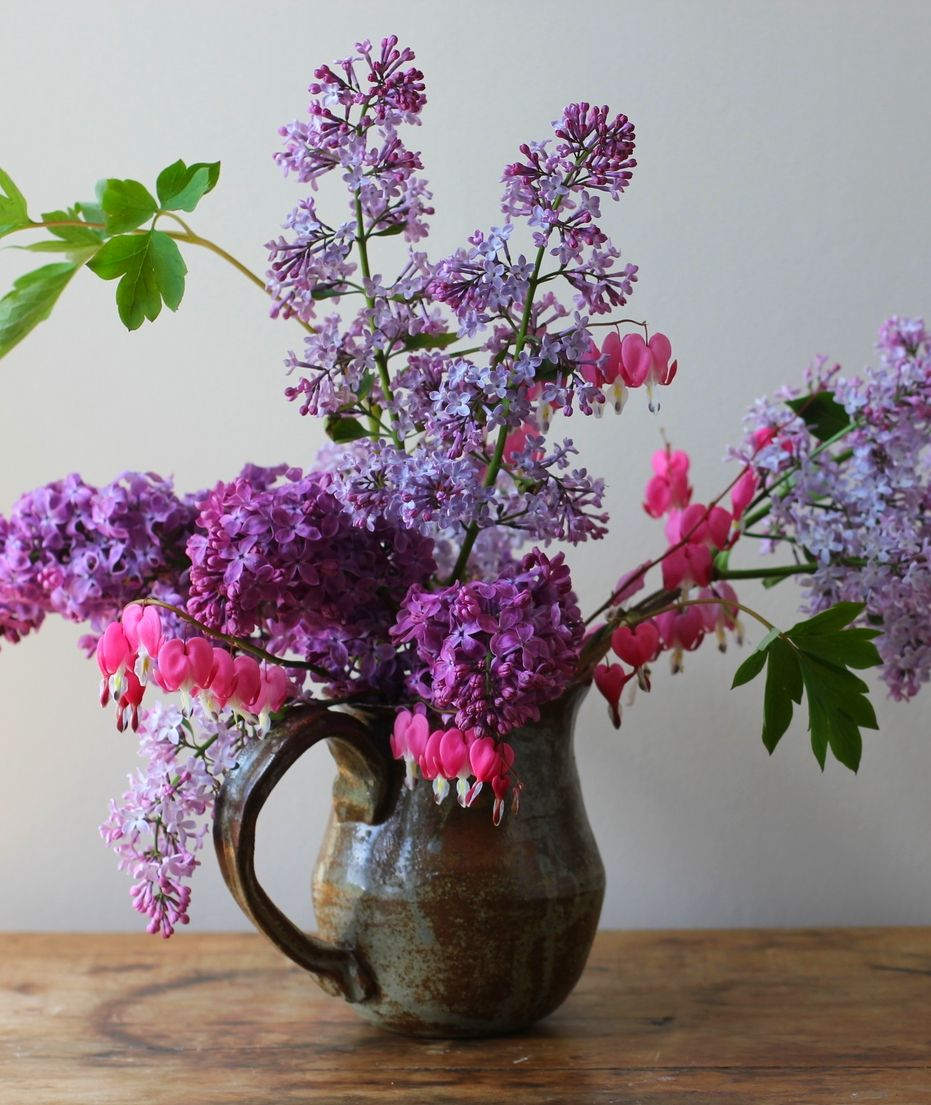bleeding hearts and lilacs for a glorious spring bouquet