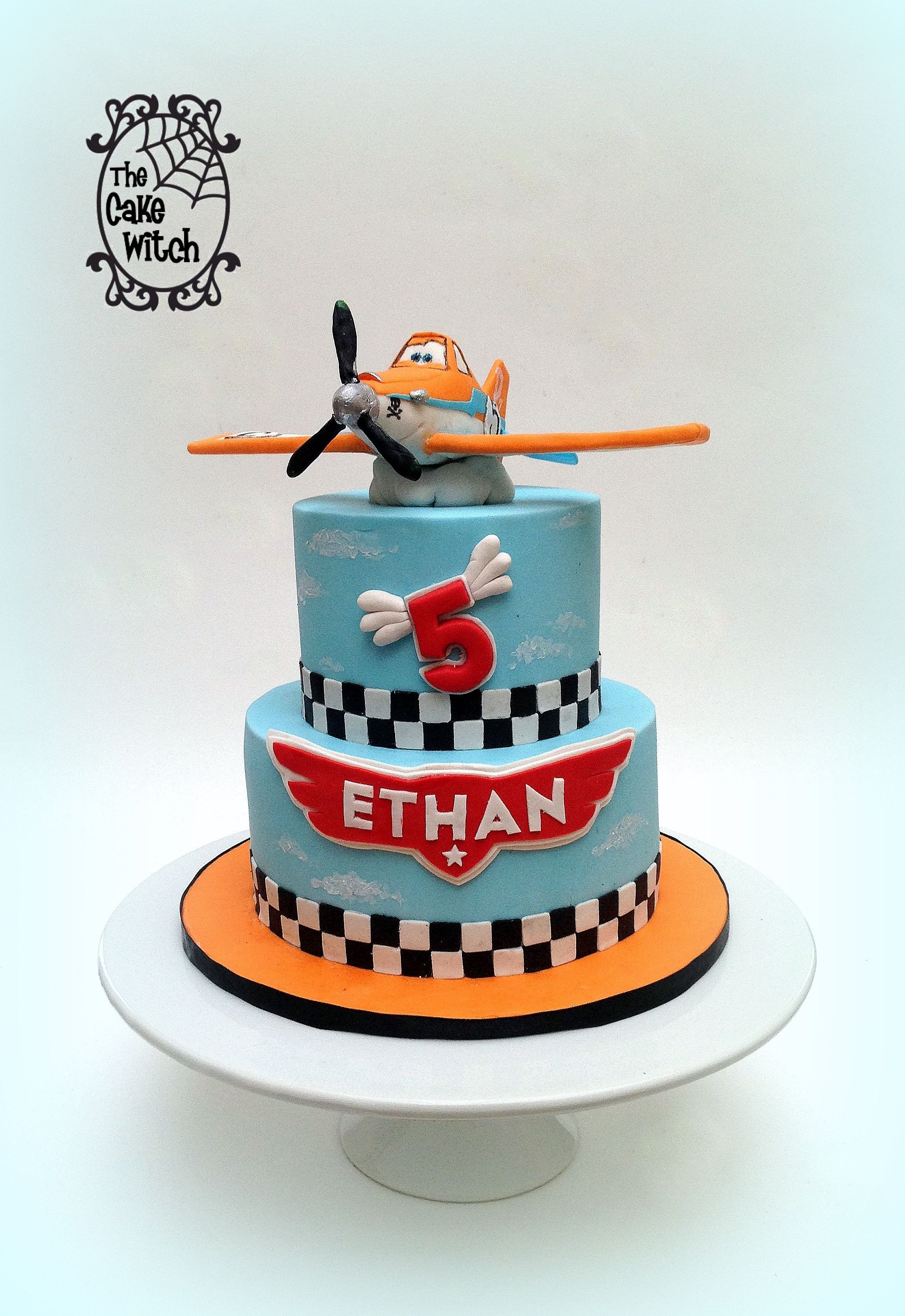 Admirable Planes Birthday Cake With Dusty Figurine Planes Birthday Cake Birthday Cards Printable Trancafe Filternl