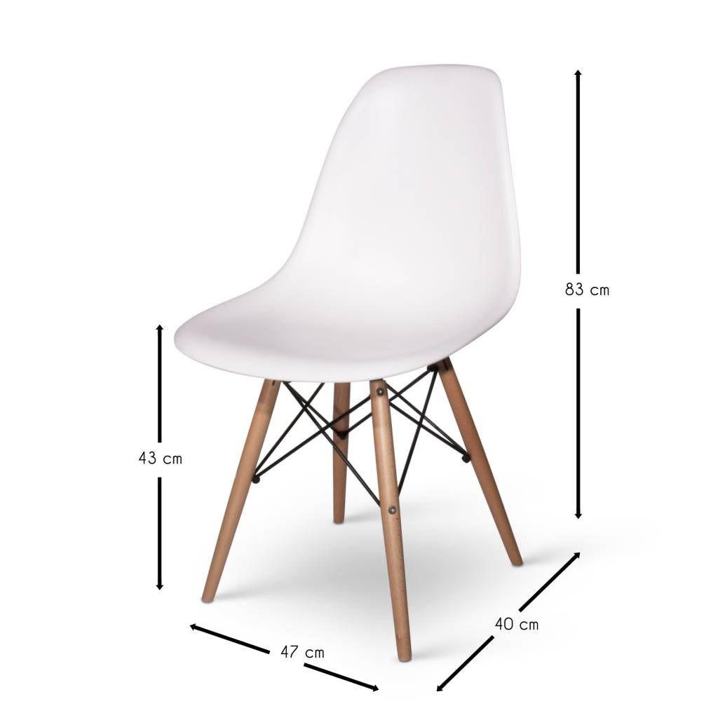 Eetkamerstoelen Designstoel Dsw Plastic Wit.Eetkamerstoelen Designstoel Dsw Plastic Wit 87 00 Dat Zit