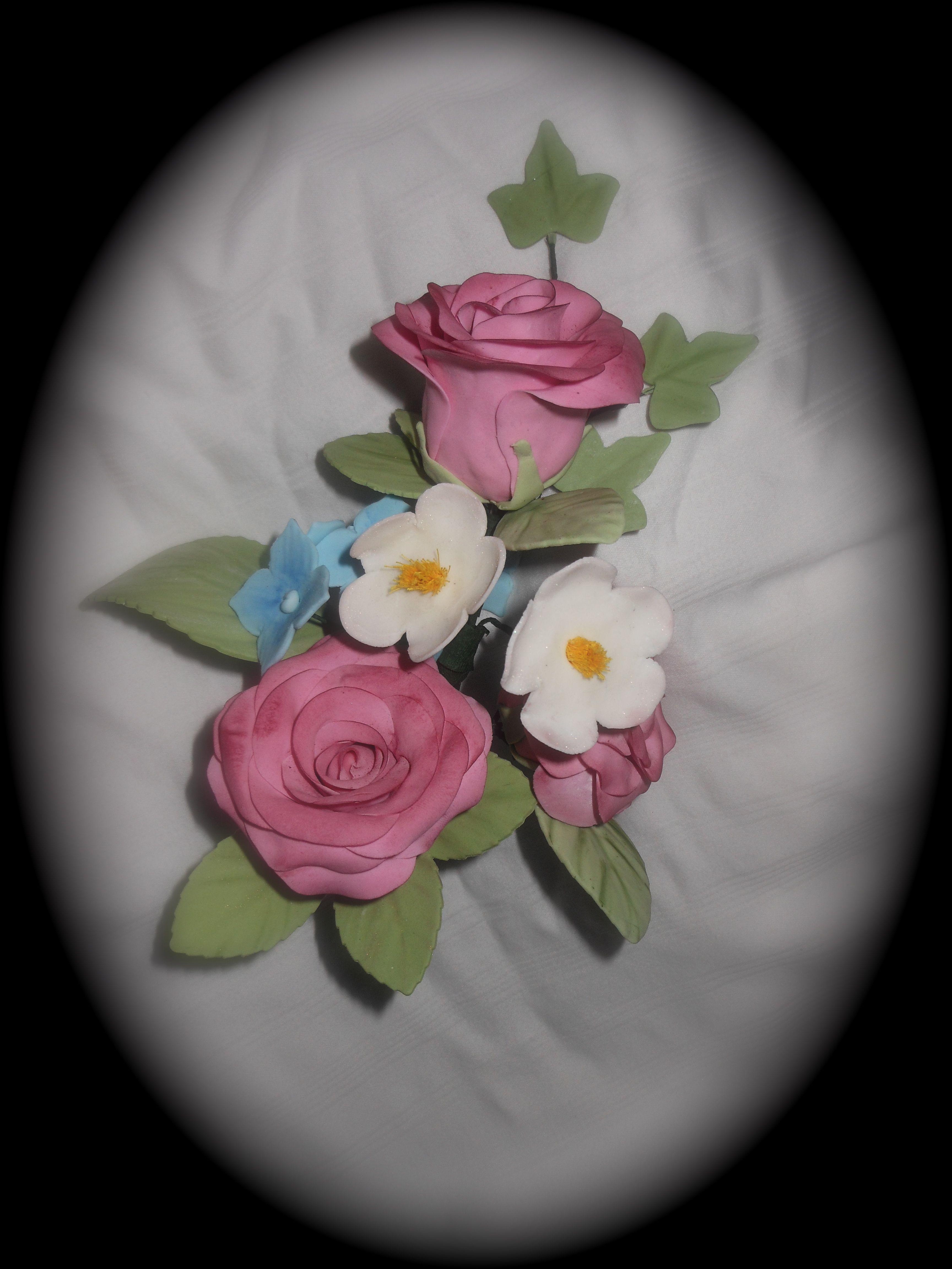 Gum Paste Flower Bouquet Sugar Paste Flower Bouquets Pinterest