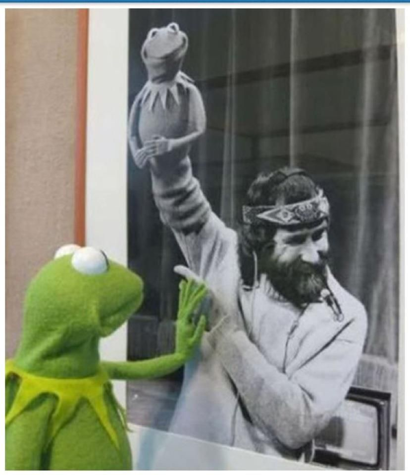 Today marks 22 years since Jim Henson died. This photo gets me every time. :(