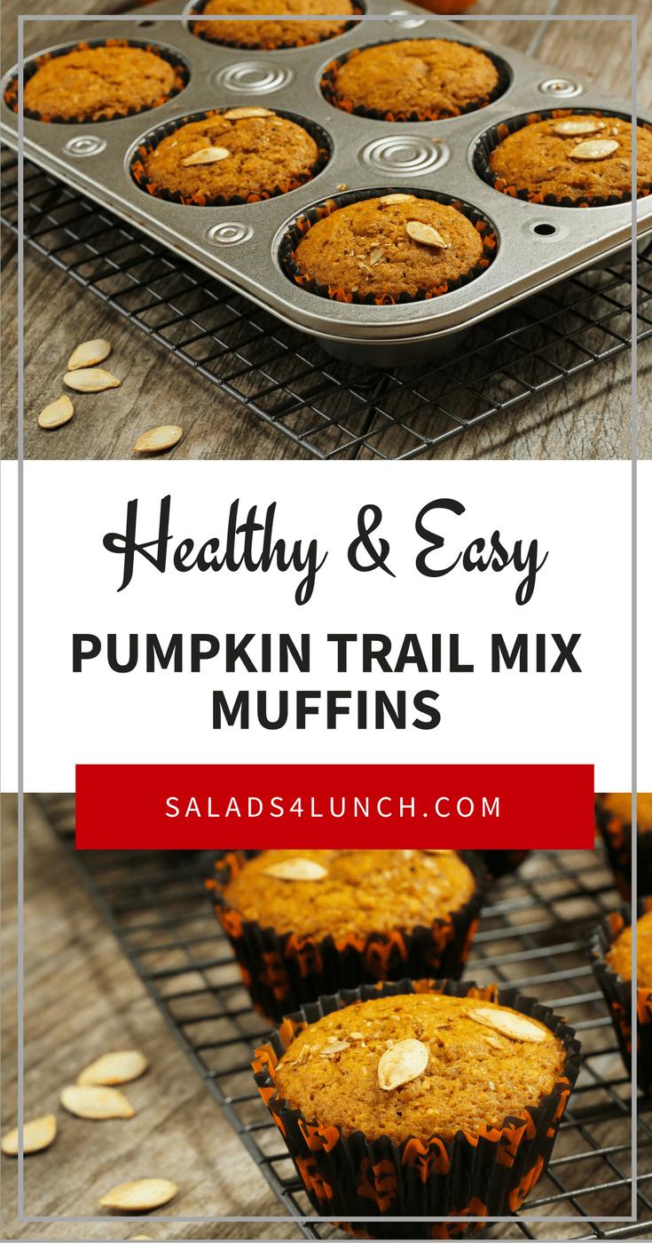 Pumpkin Trail Mix Muffins