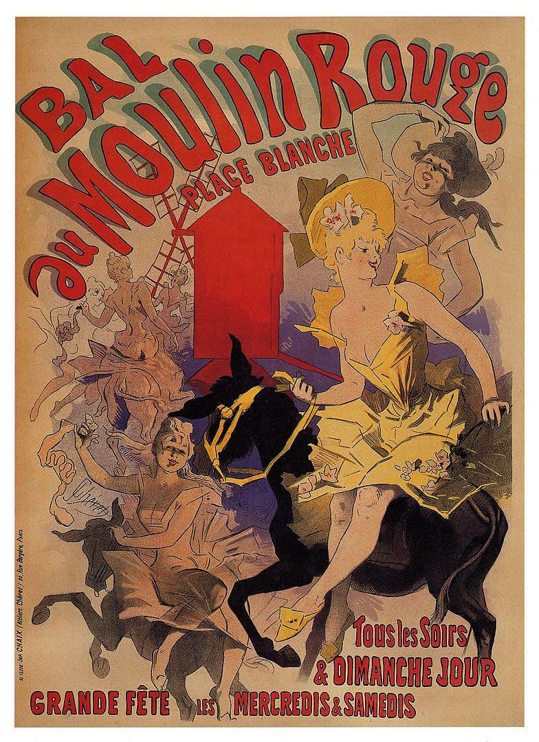 Bal Au Moulin Rouge - Vintage European Fine Art Posters ...