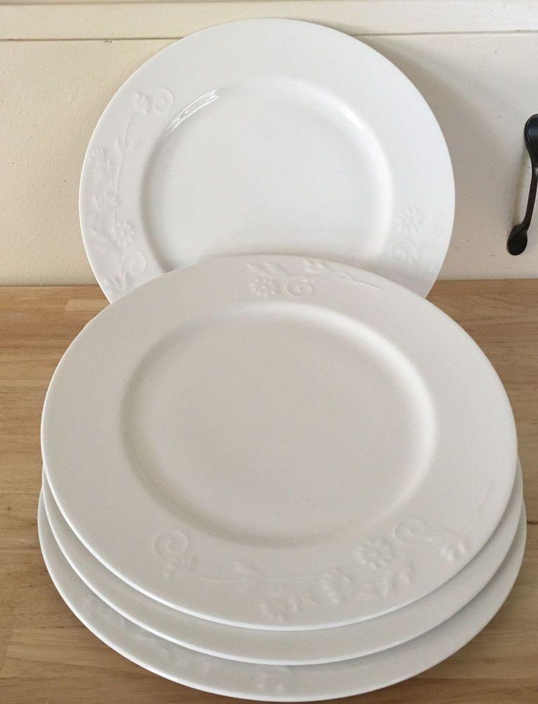 Four (4) Roscher Fine Porcelain Bone China Daisy Dinner Plates ...