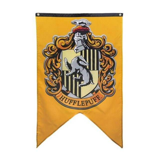 Harry Potter Hogwarts House Banners Flags Gryffindor Slytherin Hufflepuff Or Ra Harry Potter Banner Harry Potter Party Supplies Harry Potter Hogwarts Houses