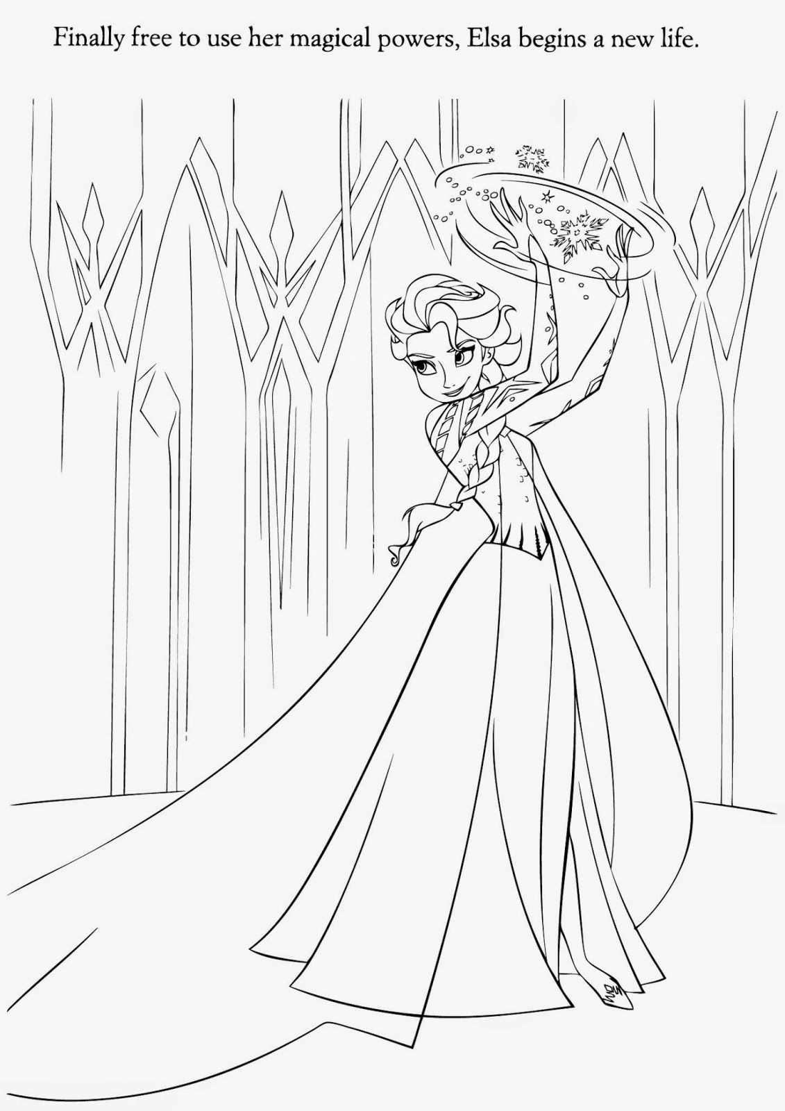 Elsa Frozen Coloring Pages Printable