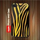 Tiger Print #2 iPhone 4, 4S Case (Black Case) #iPhone4 #iPhone4 #PhoneCase #iPhone4Case #iPhone4Case