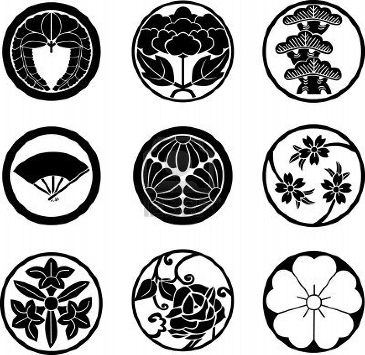 8817990 japanese family crestsg 12001167 tattoo research illustration of japanese family crests vector art clipart and stock vectors biocorpaavc Gallery
