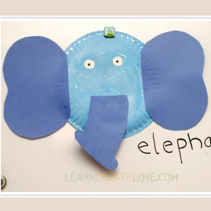 paper plate elephant & 25 Cute Elephant Crafts for Kindergarteners | Elephant crafts ...