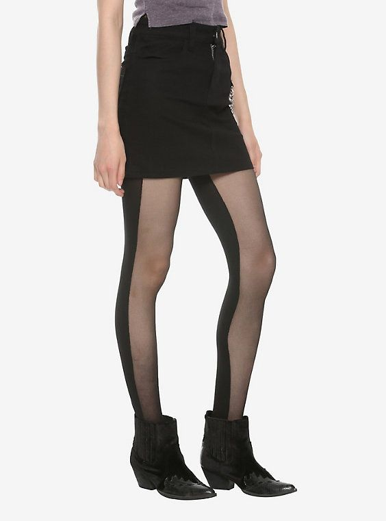 Dancing Delight Ribbed Modal Tights in Noir | Clothes