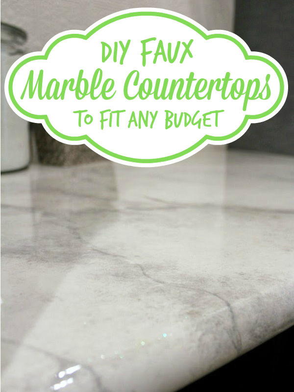 30 DIY Faux Marble Countertops Marble countertops Countertops