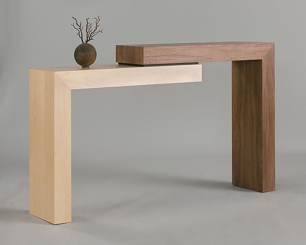 Stepped Console By Todd Leback Wood Console Table Artful Home Wood Console Table Wood Console Wood Furniture