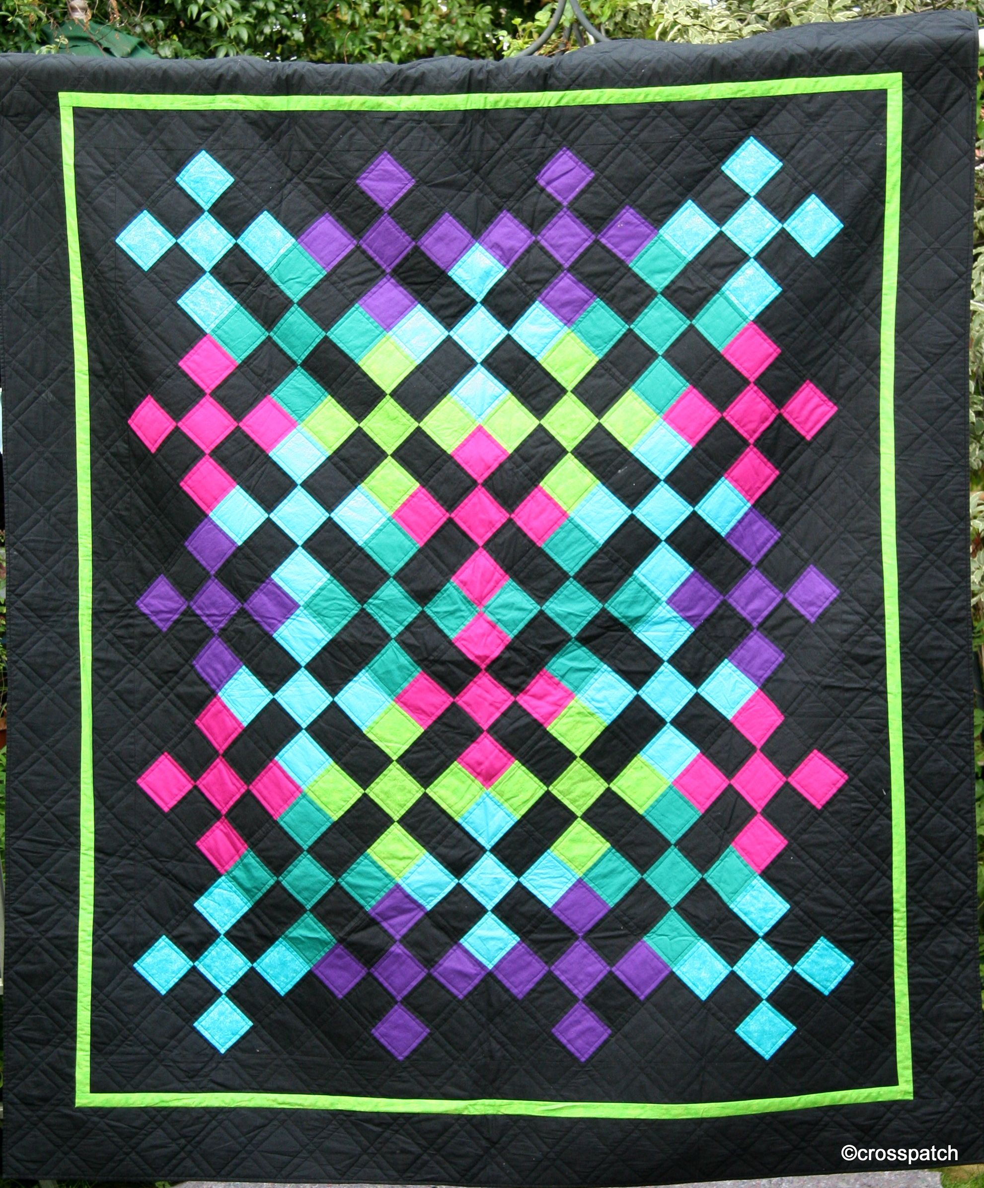 Amish-inspired quilt with bright neon colors at Crosspatch | Amish ... : amish quilts designs - Adamdwight.com