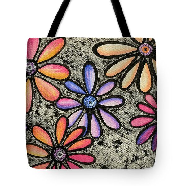 Tote Bag featuring the painting Flower Series 4 by Graciela Bello