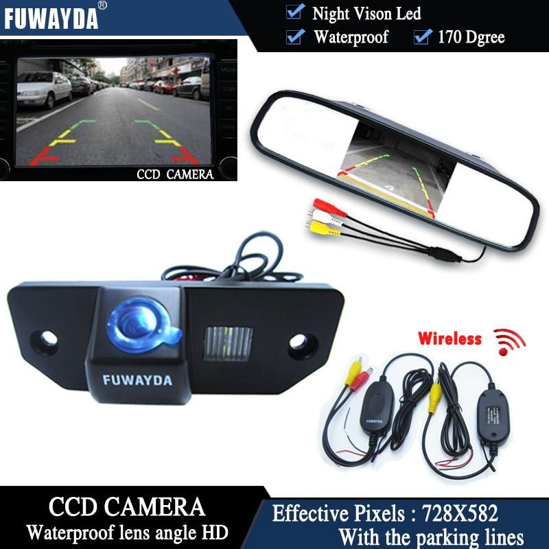 FUWAYDA Wireless CCD Chip Car Chip Rear View Camera for