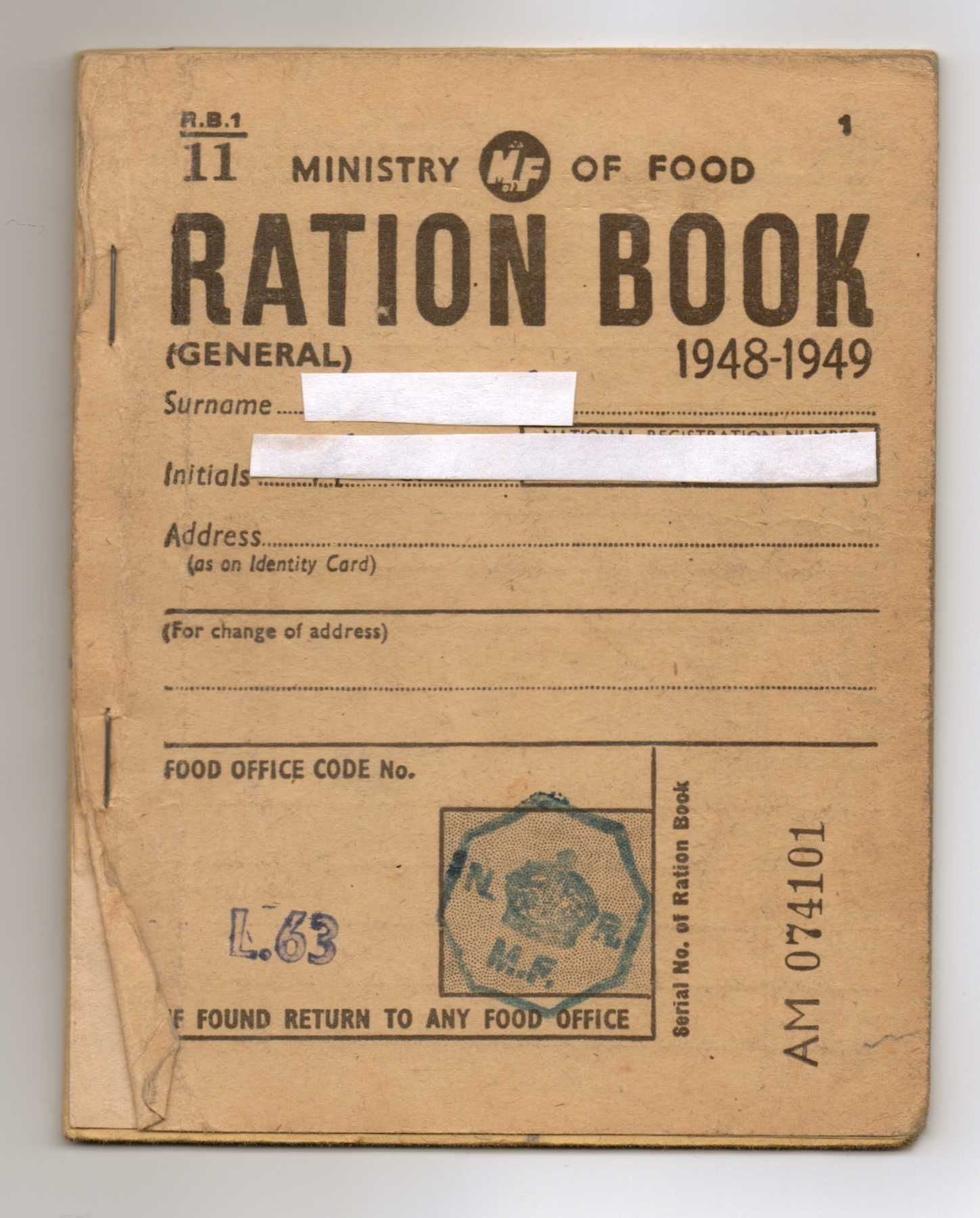 Ration coupons ww1