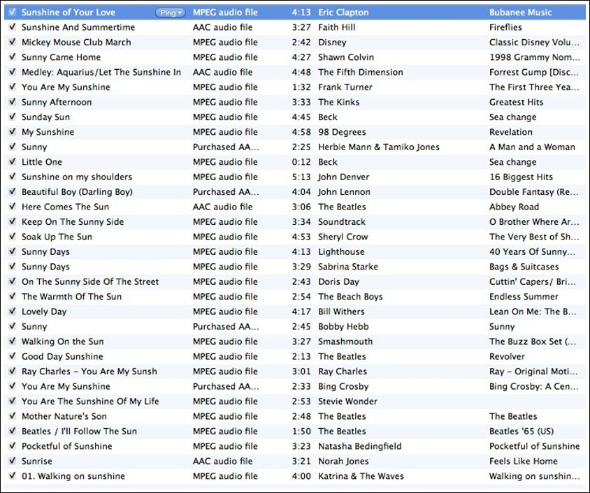 Party Playlist music playlist inspiration for a sunshine birthday party from