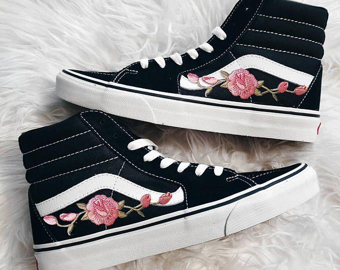 vans femme motif rose