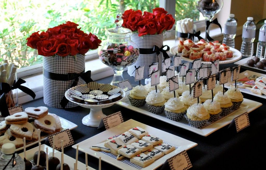 40th birthday party dessert candy table buffet ideas