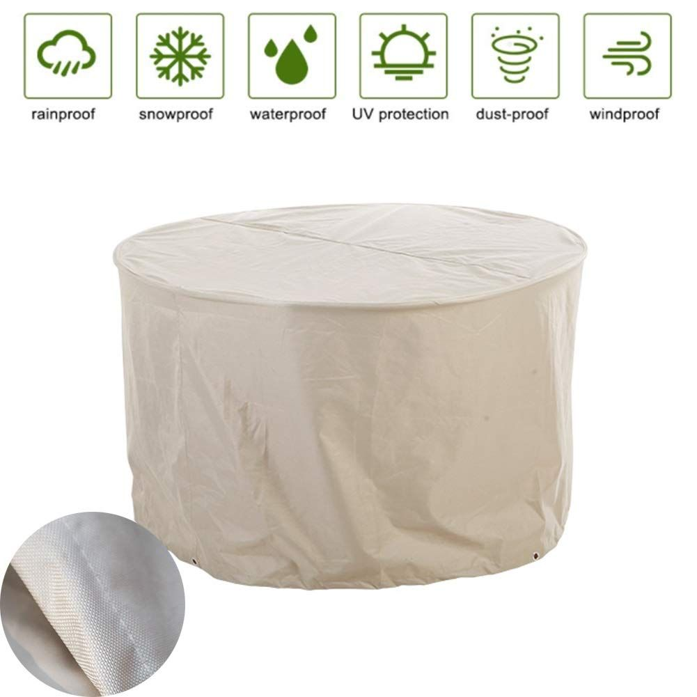 Lsxiao Garden Furniture Cover Waterproof Tarpaulin Round Table Cover Antifreeze Oxford Cloth Wit Garden Furniture Covers Garden Furniture Buy Outdoor Furniture