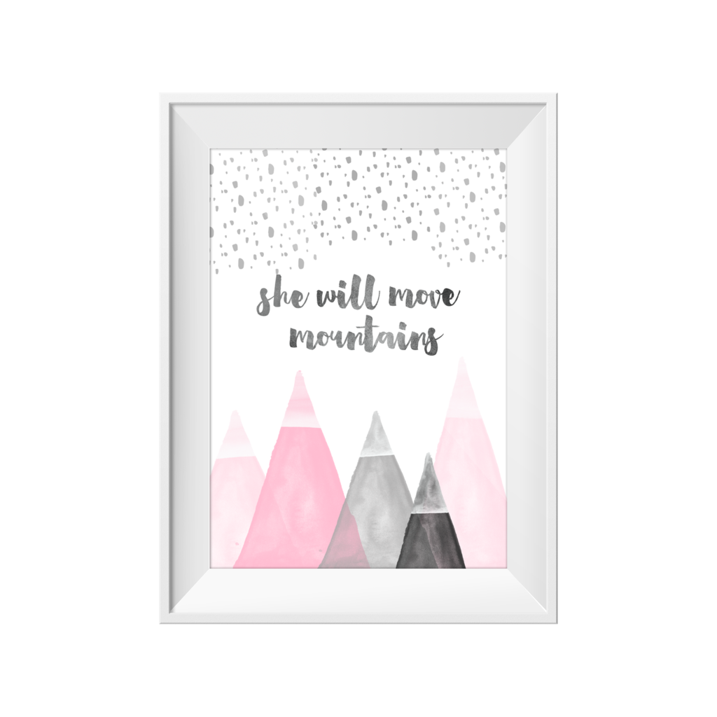 She Will Move Mountains Print - Jack & Willow | Online Children's Boutique