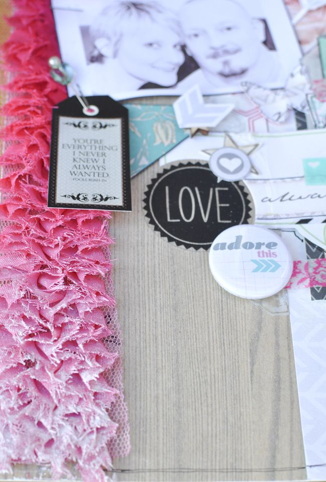 Ombre effect ribbon. Emma Trout: Always and Forever layout {quick tips}