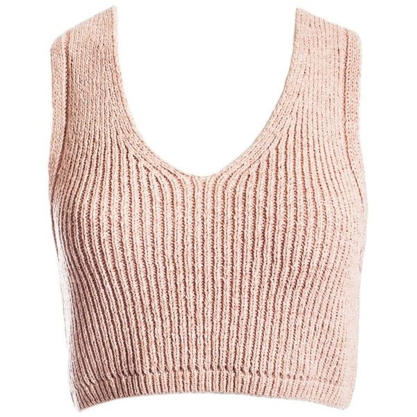 054975a1ba7f6 Sans Souci Blush layered back cropped white sweater top ( 15) ❤ liked on  Polyvore featuring tops