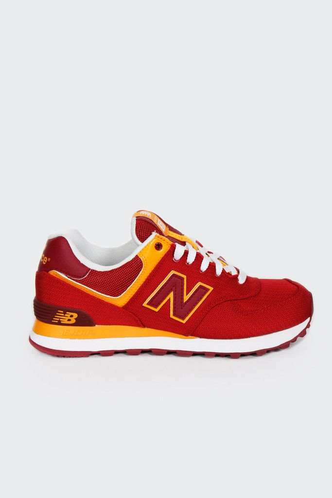 outlet store 8196b 03636 New Balance, 574 Passport Sneakers (ML574PPR), red yellow http