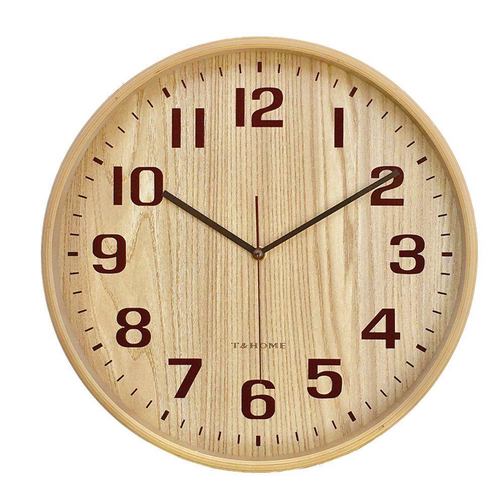 Classic Handmade Silent Wall Clock T Livingroomdecorideas Wood Wall Clock Wall Clock Clock