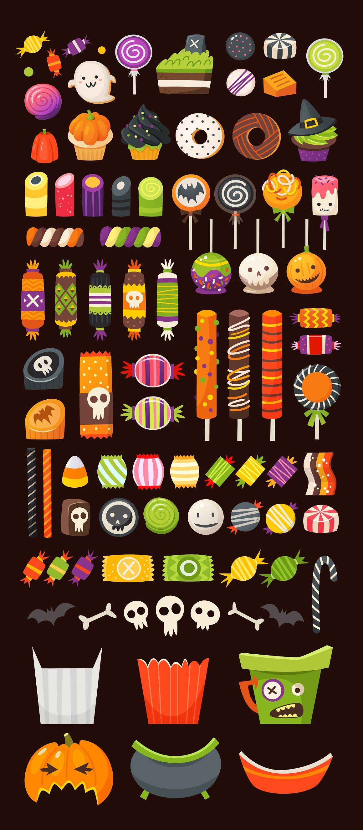 Halloween sweets pt2 in vector