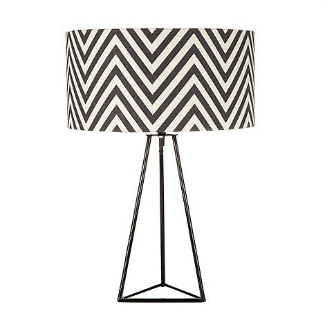 Black black zig zag patterned lamp