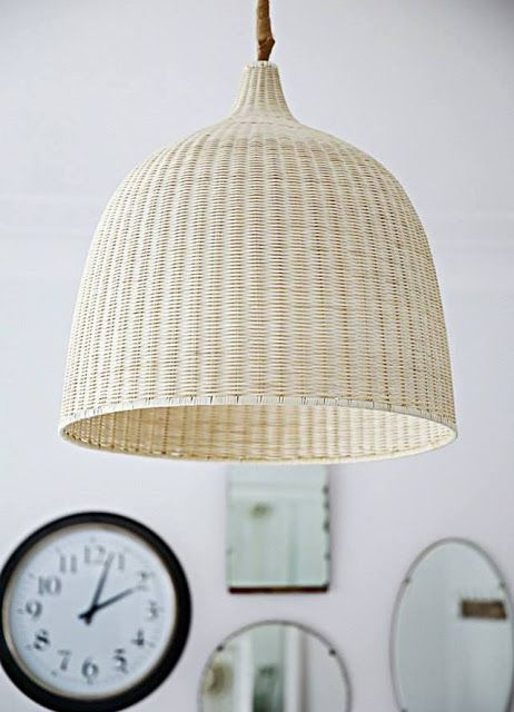 IKEA wicker hanging lamp (need) | Ikea pendant light ...