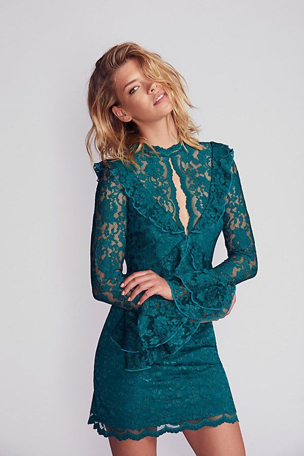 Devin Lace Bodycon Dress By Saylor At Free People Dresses