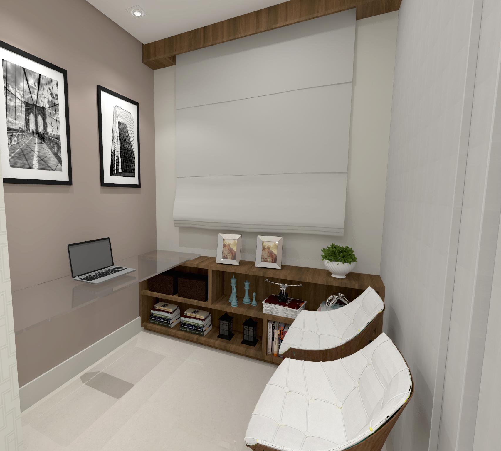 Todo espaço deve ser utilizado! Home office   Projeto Lilian Simões Arquitetura