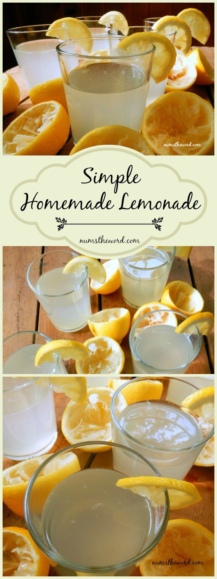 Looking for a simple homemade lemonade recipe?  This involves Fresh Squeezed Lemons, Sugar and Water.  You can't beat this old fashioned Lemonade!! Easy, delicious and our family favorite! #lemonade #homemade #lemons #drink #spring #summer #happy #sunshine #nummy #homemadelemonaderecipes