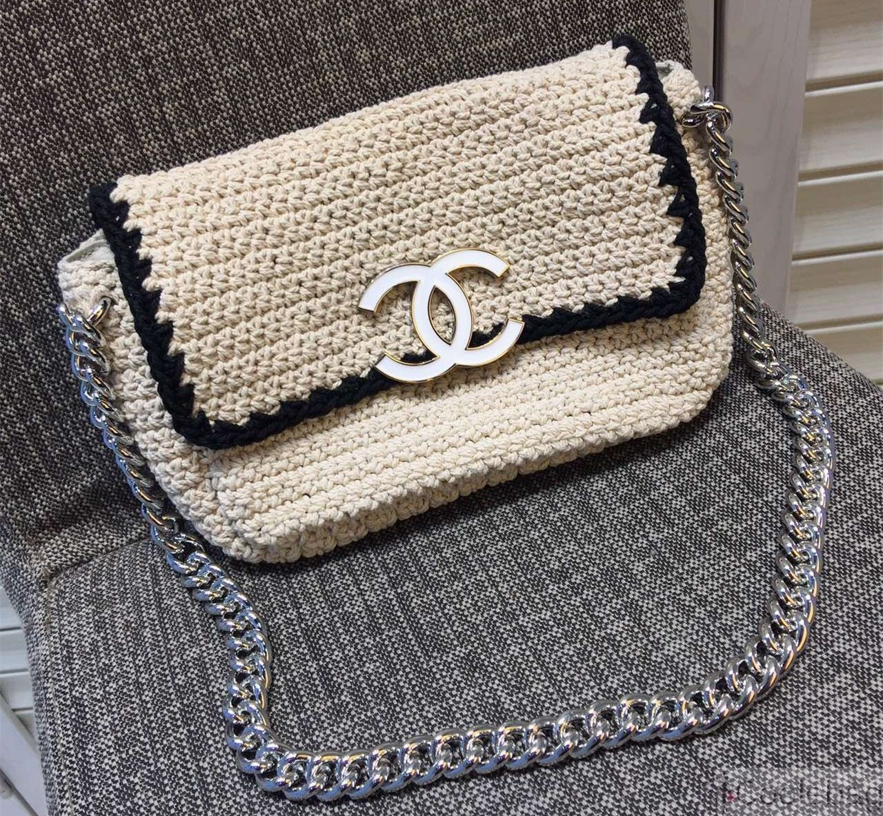 b0da2277130a Chanel Crochet-work Flap Bag 2016