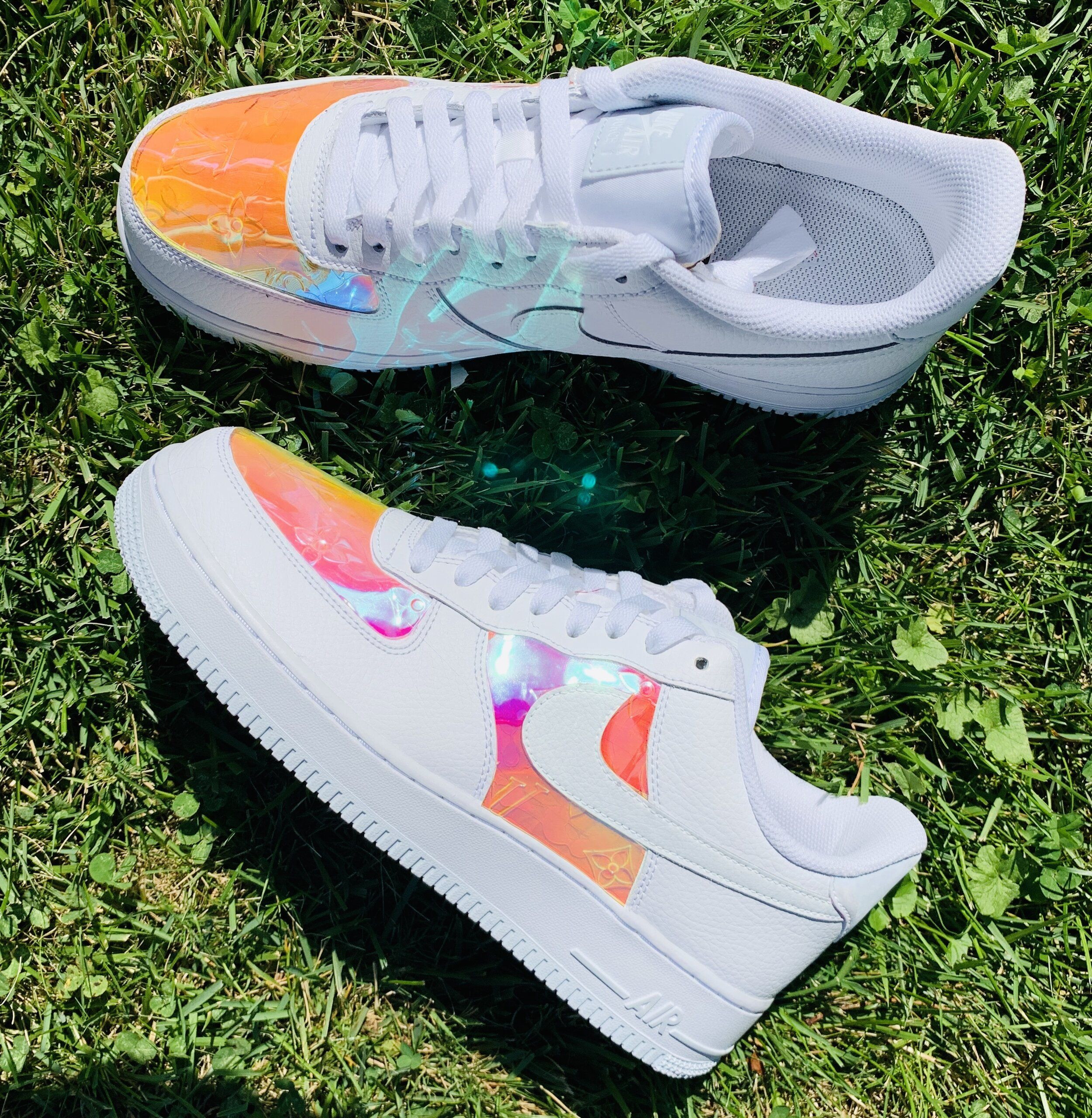 Rainbow Reflective Drip Air Force 1 — Cvlture Shop in 2020