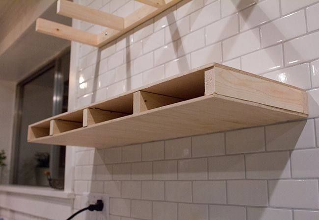 Kitchen Chronicles: DIY floating rustic shelves