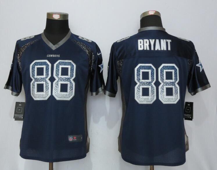 35ad51d15 Women NEW Nike Dallas cowboys 88 Bryant Drift Fashion Blue Elite Jerseys