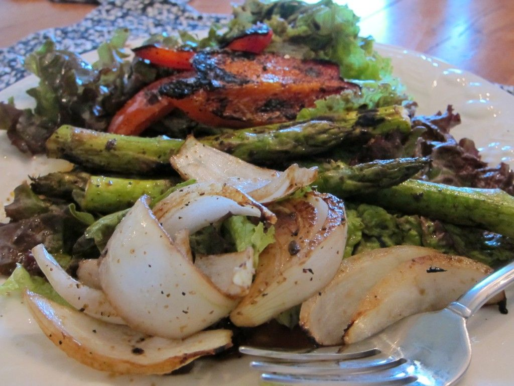 Grilled veggie salad ---from \