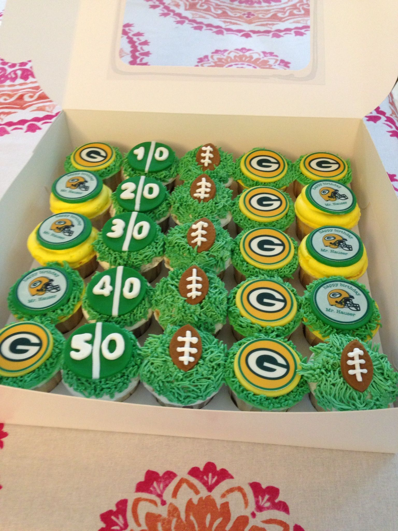 2fc6039f6 GreenBay Packers Cupcakes