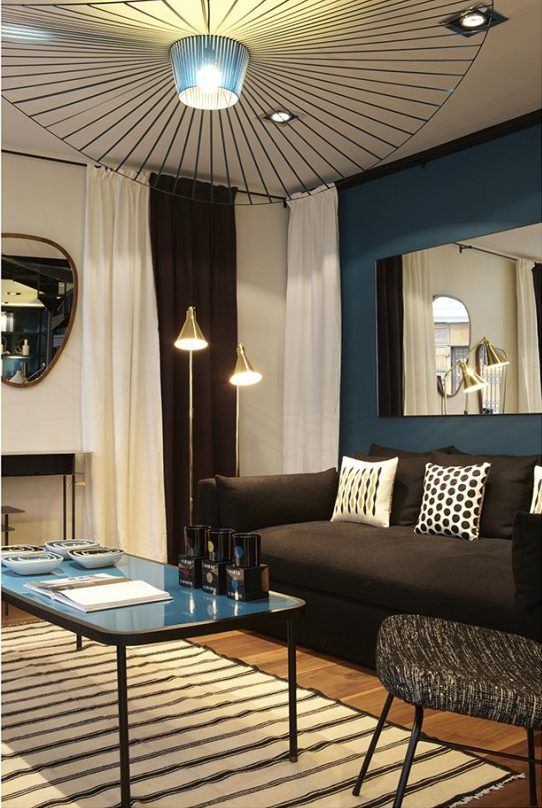 Déco bleu canard  idées et inspiration Salons, Living rooms and Room