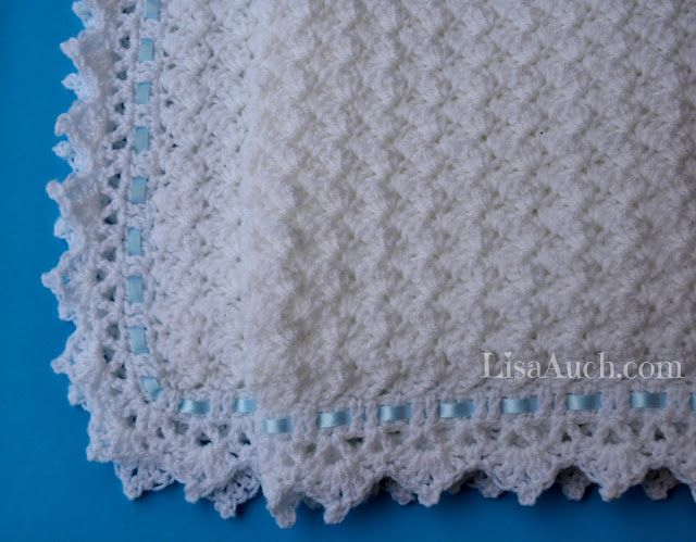 FREE Crochet Pattern Baby Blanket EASY - Little Clouds Crochet ...