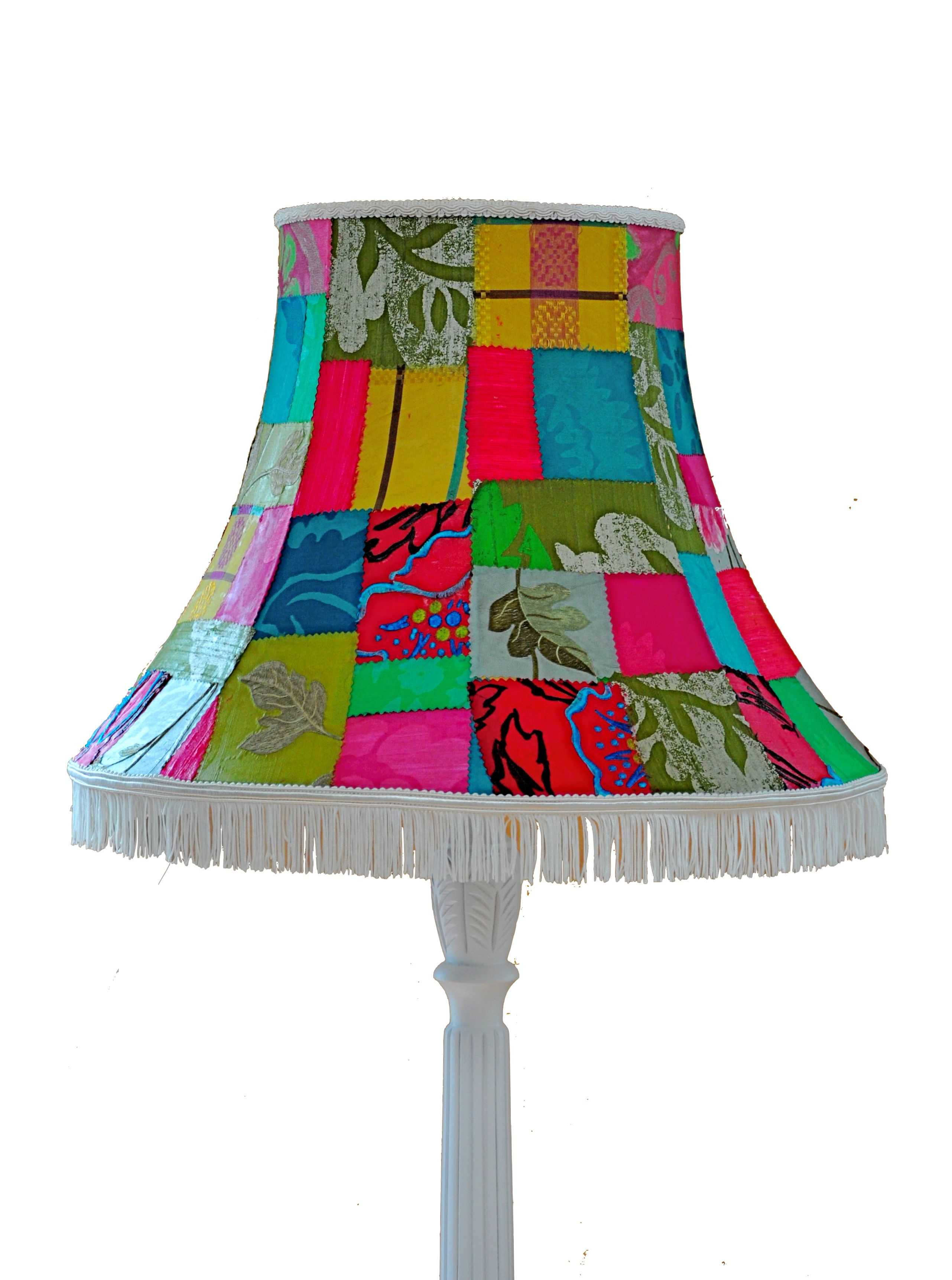 Vintage Patchwork Lampshade Multi Colour Lamp shades
