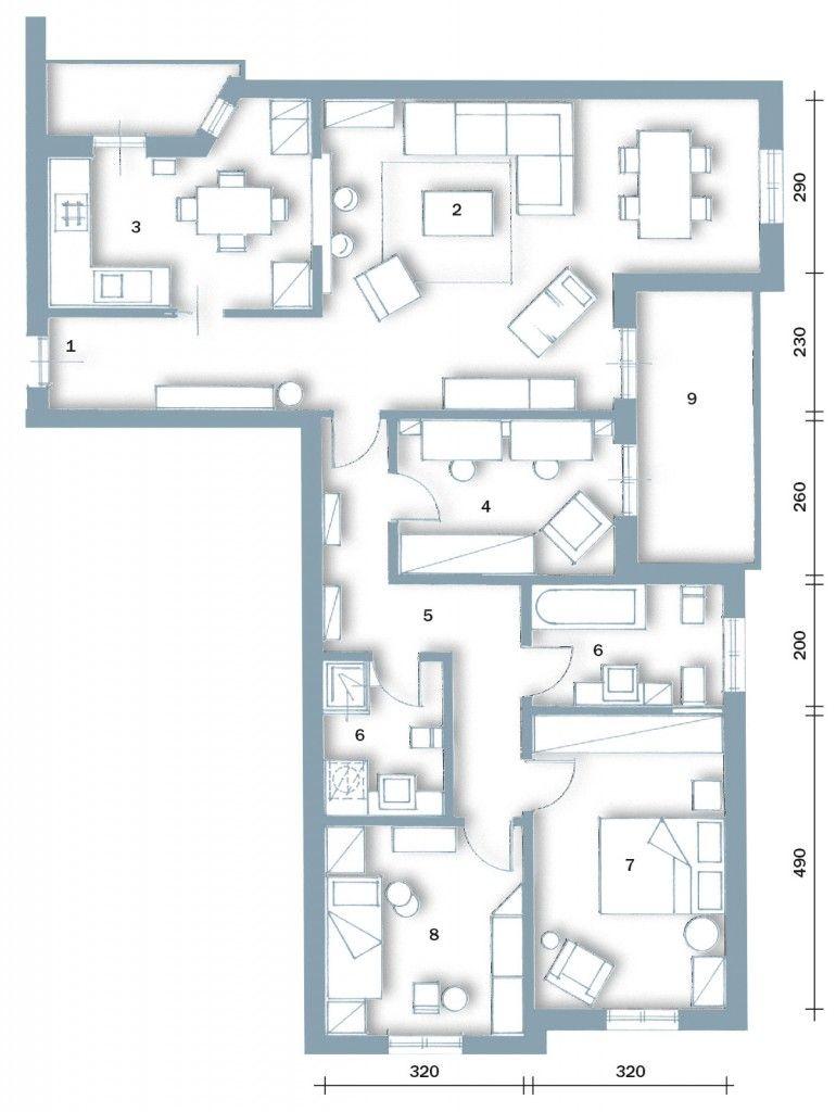 Pianta Casa 200 Mq